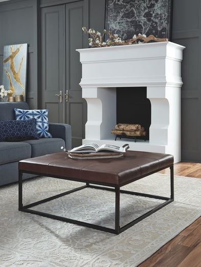 Boyden - Brown - Oversized Accent Ottoman