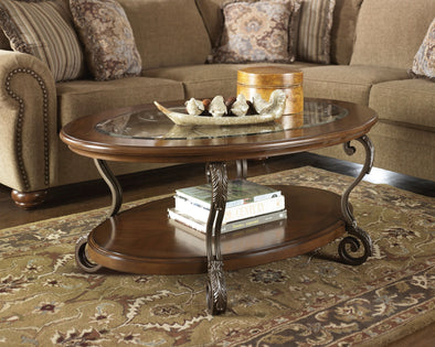 Nestor - Medium Brown - Oval Cocktail Table