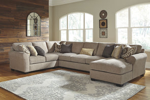 Pantomine - Driftwood - LAF Loveseat, Wedge, Armless Sofa & RAF Corner Chaise Sectional