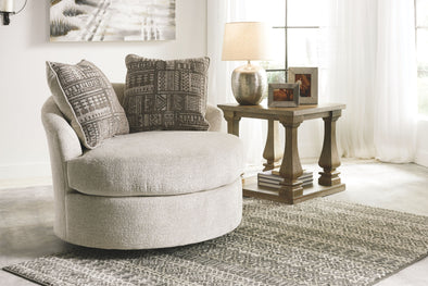 Soletren - Stone - Swivel Accent Chair