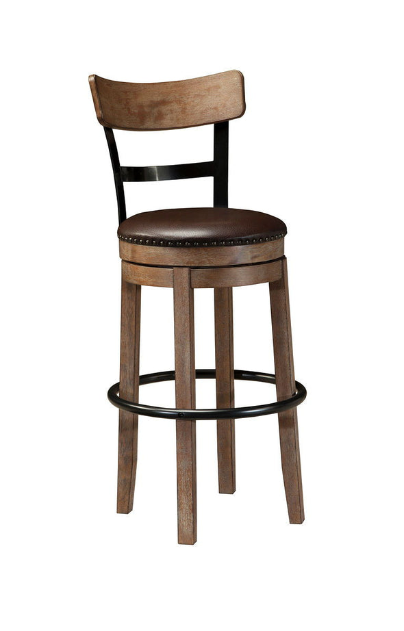 Pinnadel - Light Brown - Tall UPH Swivel Barstool(1/CN)
