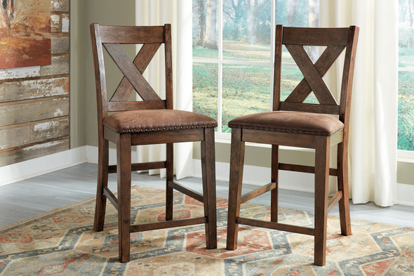 Chaleny - Warm Brown - Upholstered Barstool (2/CN)