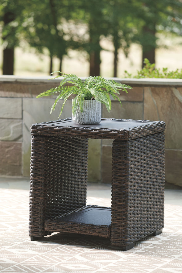 Grasson Lane - Brown - Square End Table