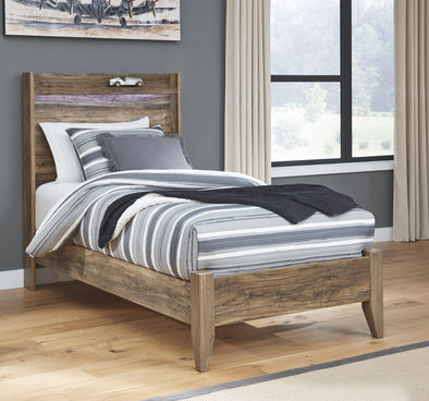 Rusthaven - Brown -  Panel Bed