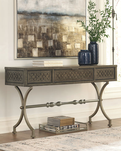 Quinnland - Antique Black - Console Sofa Table