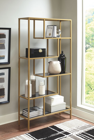 Frankwell - Gold Finish - Bookcase