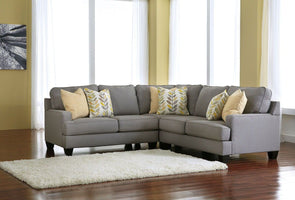 Chamberly - Alloy - LAF Loveseat , Wedge & RAF Loveseat Sectional