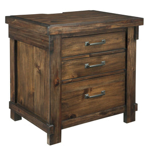 Lakeleigh - Brown - Three Drawer Night Stand