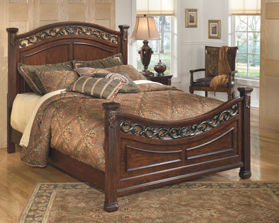 Leahlyn - Warm Brown -  Panel Bed
