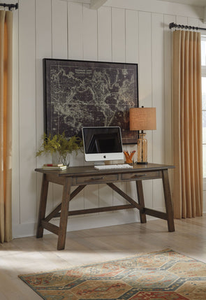 Johurst - Gray - Home Office Large Leg Desk