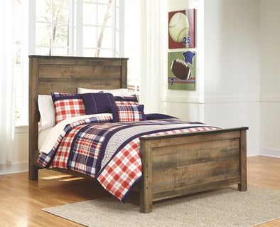 Trinell - Brown -  Panel Bed