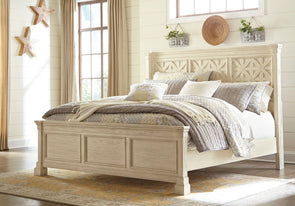 Bolanburg - Antique White -  Panel Bed