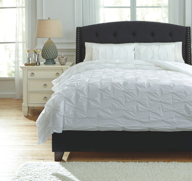 Rimy - White - Queen Comforter Set