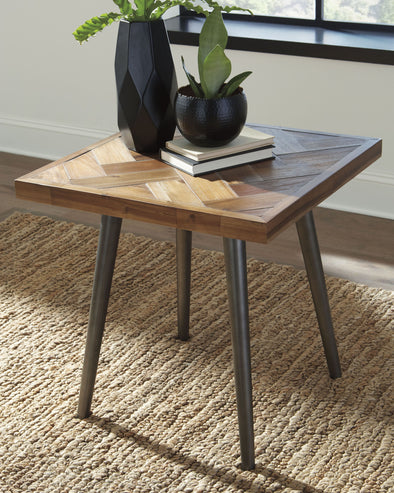 Vantori - Light Brown - Square End Table