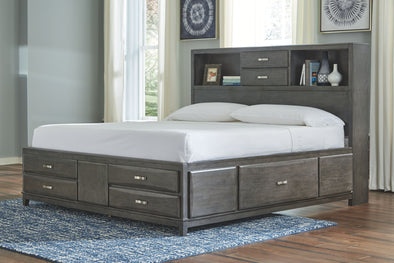Caitbrook - Gray - Full Under Bed Storage w/Rails
