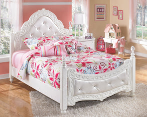 Exquisite - White -  Poster Bed