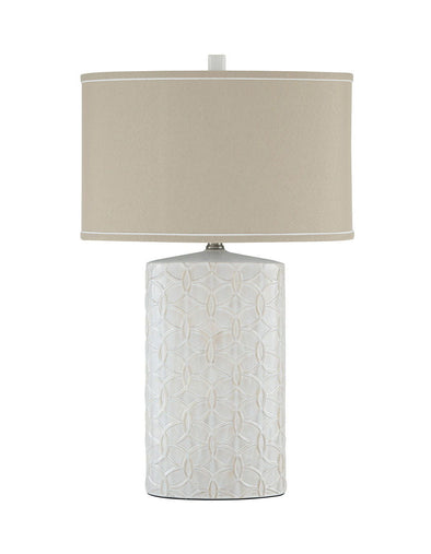 Shelvia - Antique White - Ceramic Table Lamp (1/CN)