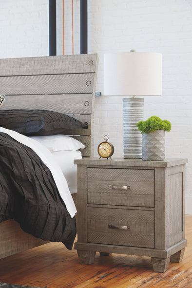 Naydell - Rustic Gray - Two Drawer Night Stand