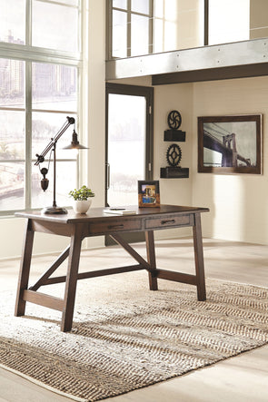 Baldridge - Rustic Brown - Home Office Large Leg Desk