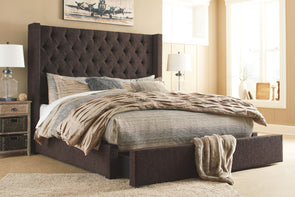 Norrister - Dark Brown -  UPH Storage Bed