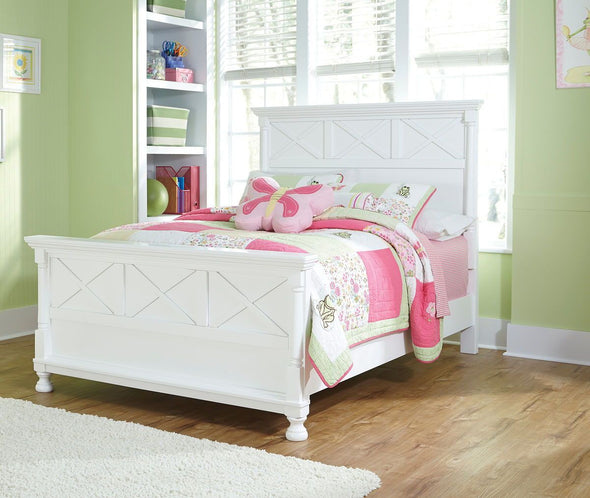 Kaslyn - White -  Panel Bed *SPECIAL*(Free Full Mattress and Box with Full Bed Purchase)