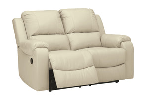Rackingburg - Cream - Reclining Loveseat