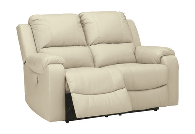Rackingburg - Cream - Reclining Power Loveseat