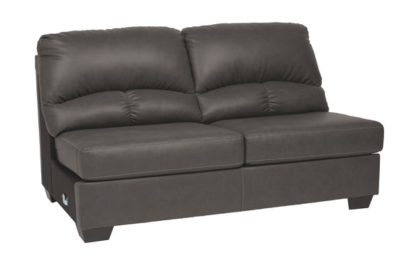 Aberton - Gray - Armless Loveseat