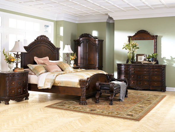 North Shore - Dark Brown - Queen Panel Footboard