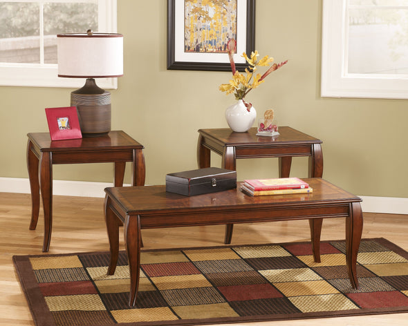 Mattie - Reddish Brown - Occasional Table Set (3/CN)