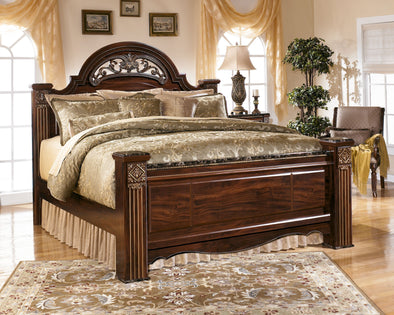 Gabriela - Dark Reddish Brown -  Poster Bed