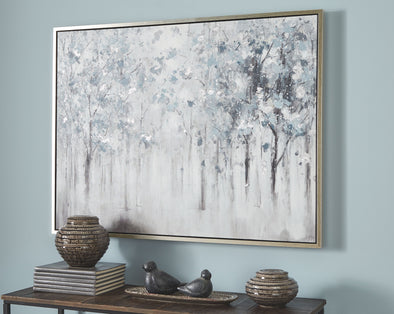 Breckin - Blue/Gray/White - Wall Art