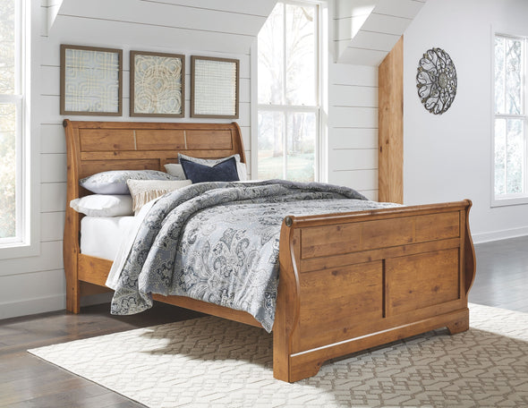 Bittersweet - Light Brown - Queen Sleigh Headboard