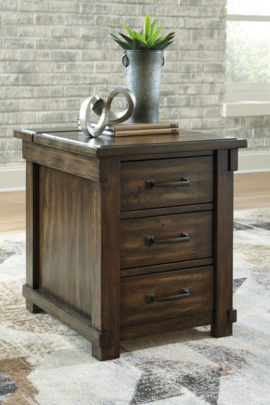 Lakeleigh - Brown - Rectangular End Table