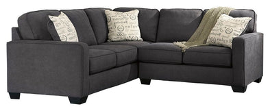 Alenya - Charcoal - RAF Loveseat & LAF Sofa Sectional