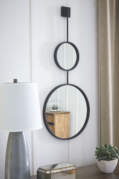 Brewer - Black - Accent Mirror
