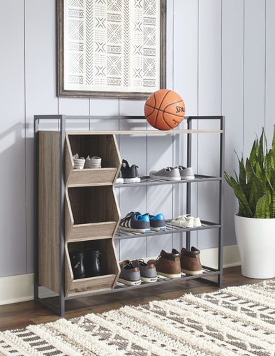 Maccenet - Gray - Shoe Rack