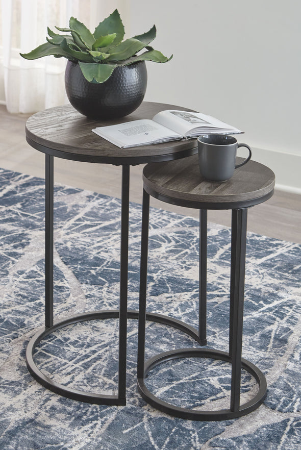 Briarsboro - Black/Gray - Accent Table Set (2/CN)