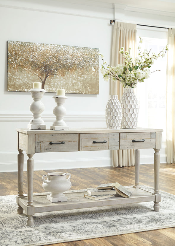 Shawnalore - Whitewash - Sofa Table