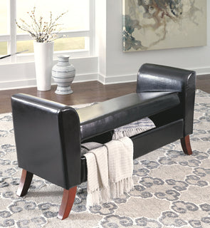 Benches - Brown - Upholstered Storage Bench