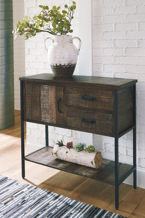 Lamoney - Gray/White/Brown - Accent Cabinet