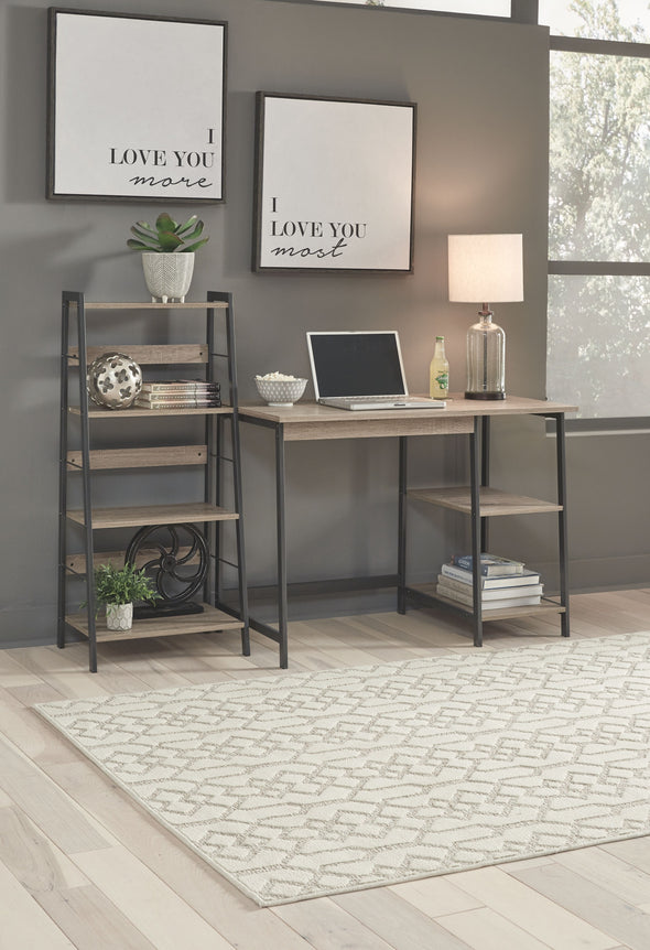 Soho - Brown/Black - Home Office Desk and Shelf