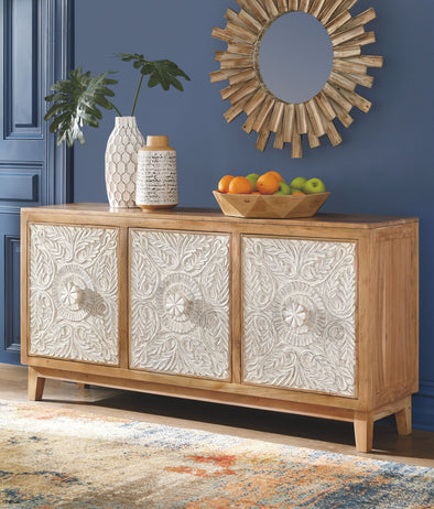 Lorenburg - Antique White/Brown - Accent Cabinet