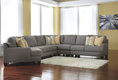 Chamberly - Alloy - LAF Cuddler, Armless Loveseat, Wedge, Armless Chair & RAF Loveseat Sectional