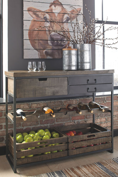 Ponder Ridge - Black/Brown - Accent Cabinet