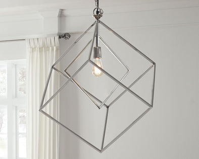 Neysa - Silver Finish - Metal Pendant Light (1/CN)