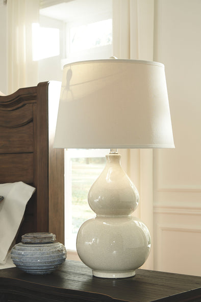 Saffi - Cream - Ceramic Table Lamp (1/CN)