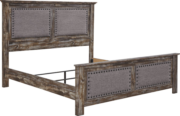 Lynnton - Rustic Brown - King UPH Panel Footboard