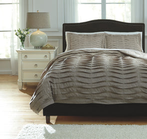 Voltos - Brown - King Duvet Cover Set
