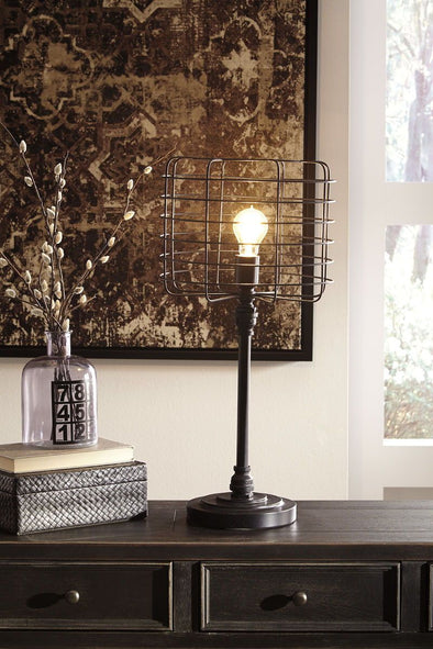 Javan - Antique Black - Metal Table Lamp (1/CN)